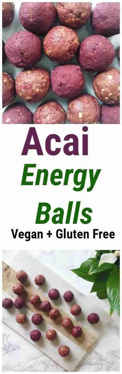 Healthy and Delicious Acai Energy Ball Recipe- Vegan + Gluten Free