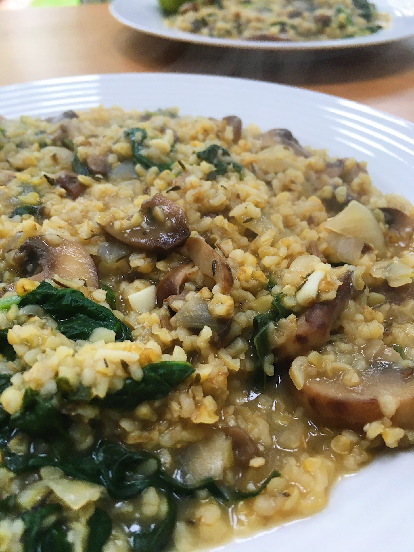 Mushroom and Spinach Buckwheat Risotto Recipe