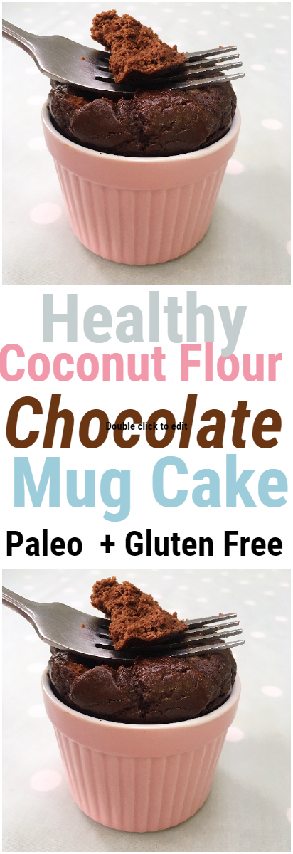 Coconut Flour Chocolate Mug Cake