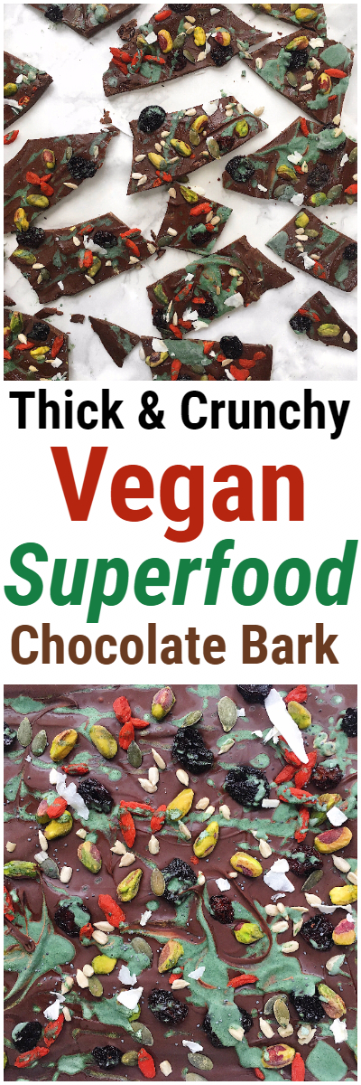 Vegan Superfood Chocolate Bark