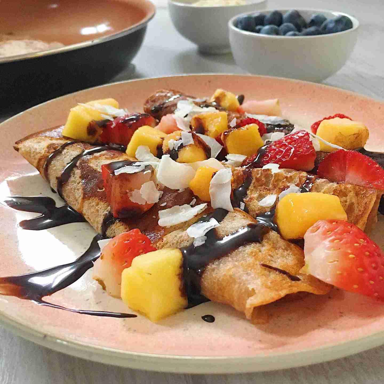 Easy + Healthy Crepe Recipe- Vegan + Gluten Free