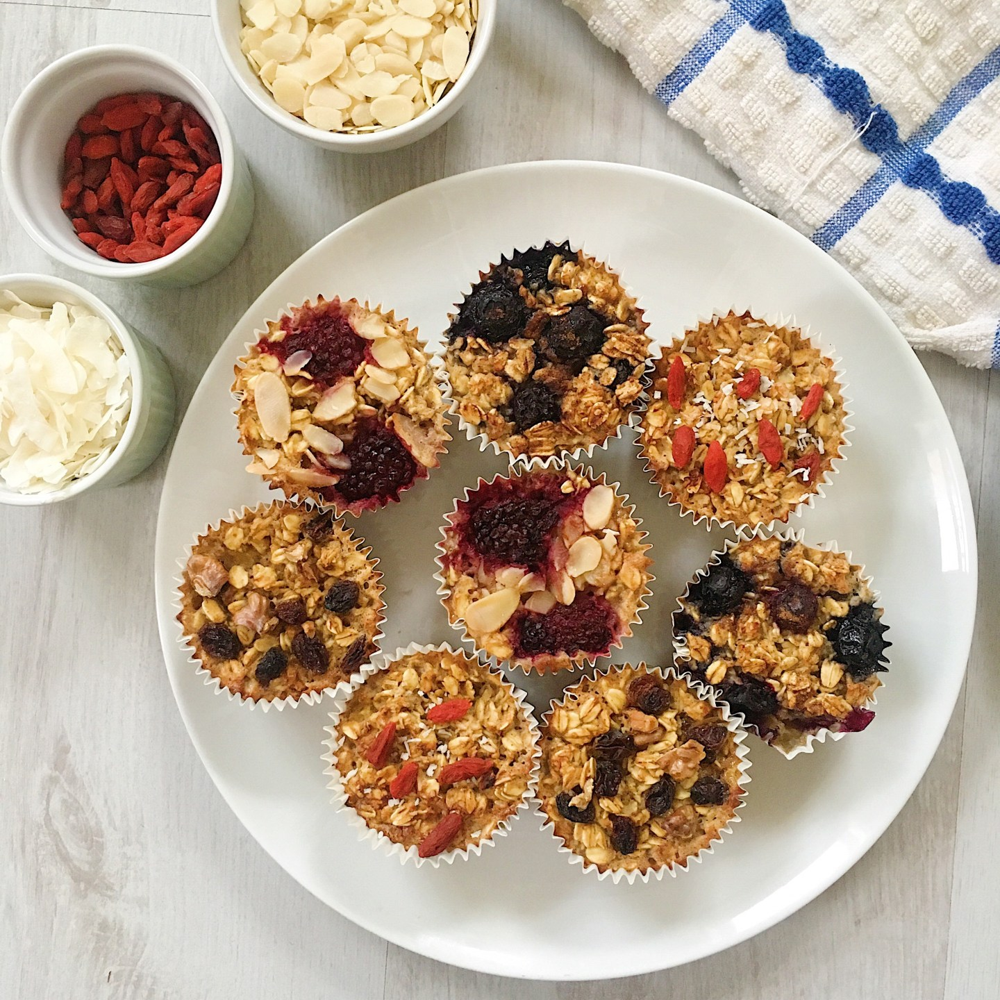 Grab and Go Baked Oat Cups