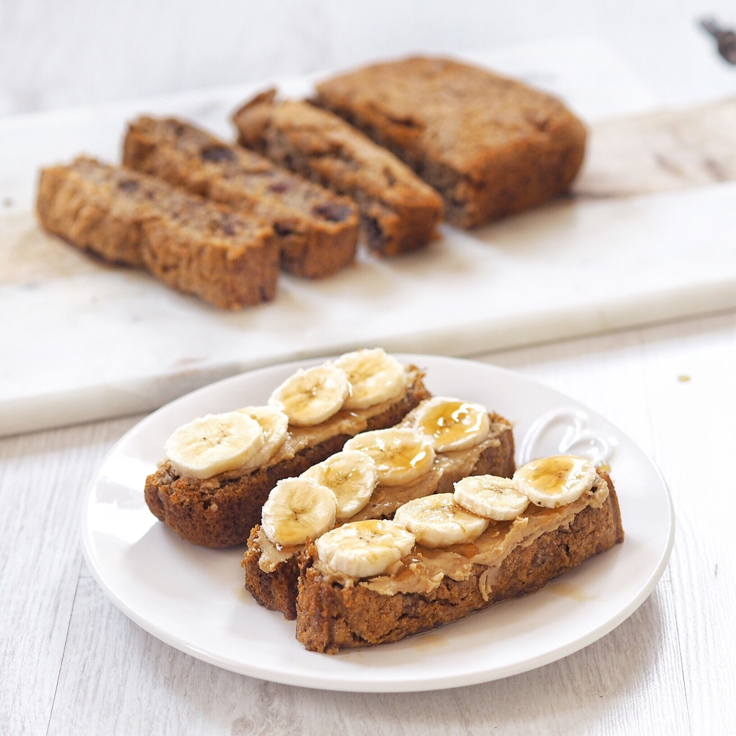 Date and Walnut Vegan Banana Bread