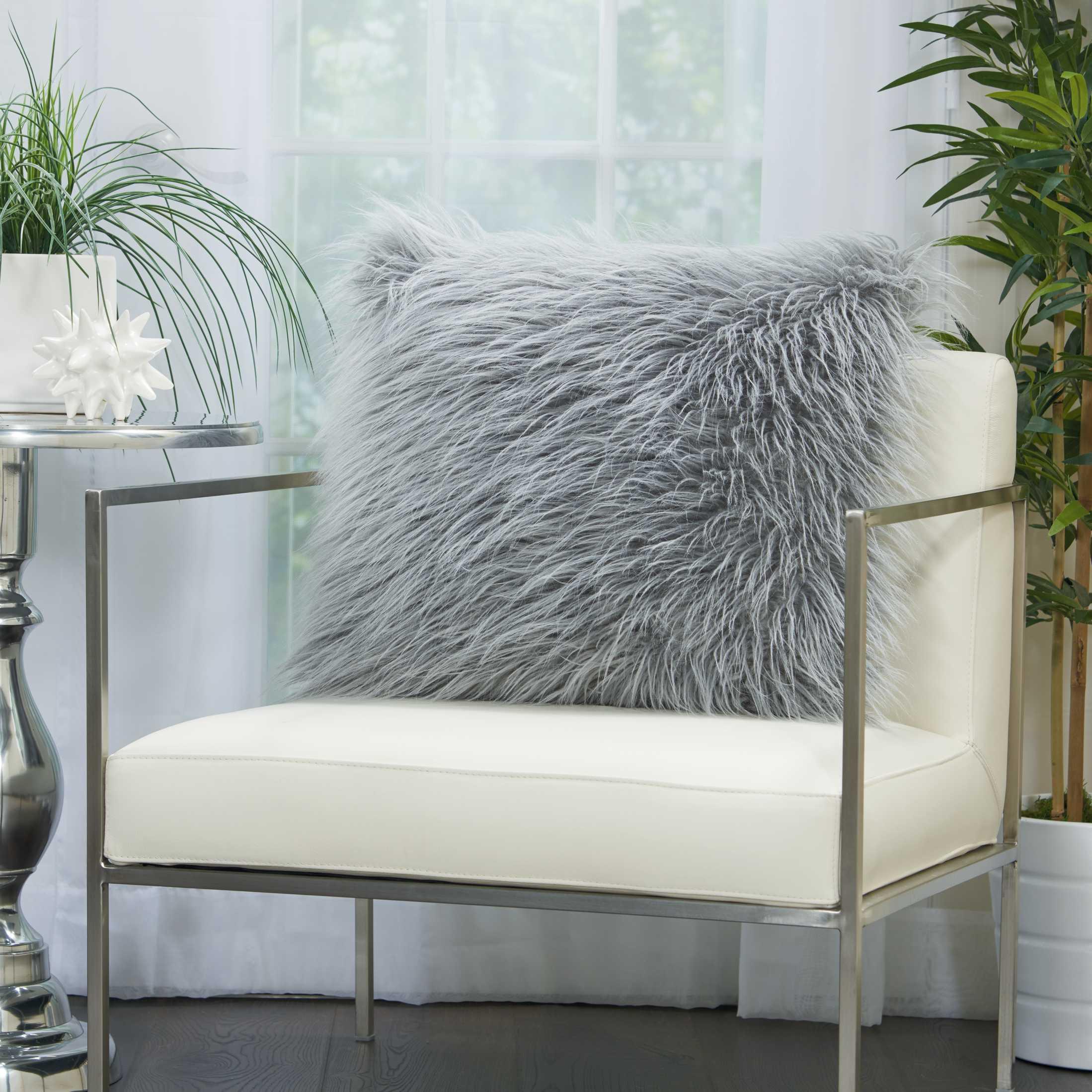 faux fur bj101 light grey 20