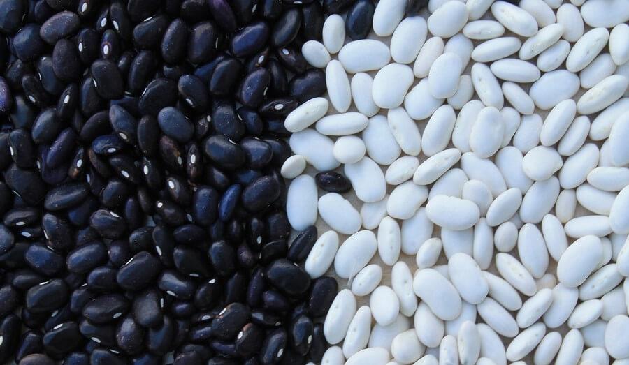 Des haricots noirs et des blancs