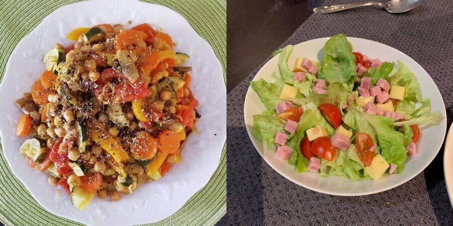assiette de rééquilibrage alimentaire et assiette de régime