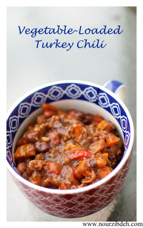 Vegetable loaded turkey chili (1)