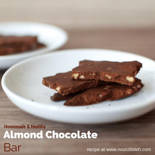 almond chocolate bar_text