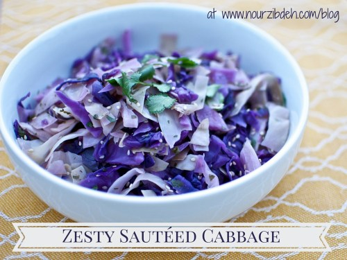 Zesty Sauteed cabbage