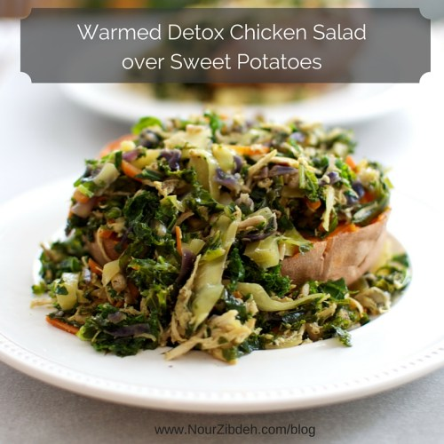 warmed detox chicken salad over sweet potato_NourZibdeh2