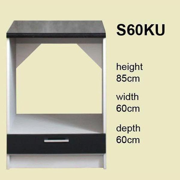 meuble de cuisine pour four encastrable 60 cm element bas lisa s60ku