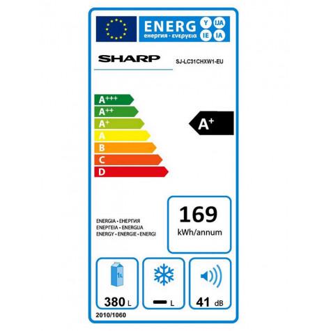 SHARP - Réfrigérateur 1 porte 60cm 380l a+ brassé blanc ...