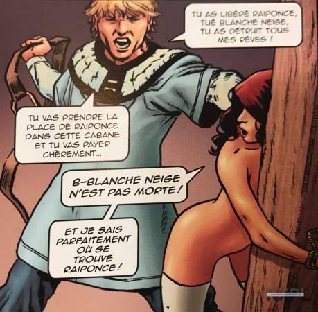 """Bande dessinée érotique Blanche Neige """"La fille à la chevelure magique"""" de Trif et Celestini aux éditions Tabou"""
