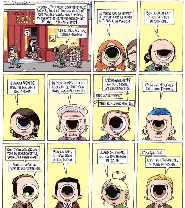 """Bande dessinée """"une vie d'échangiste"""" de Sagace et Mr Chien aux éditions Carabas - NXPL"""