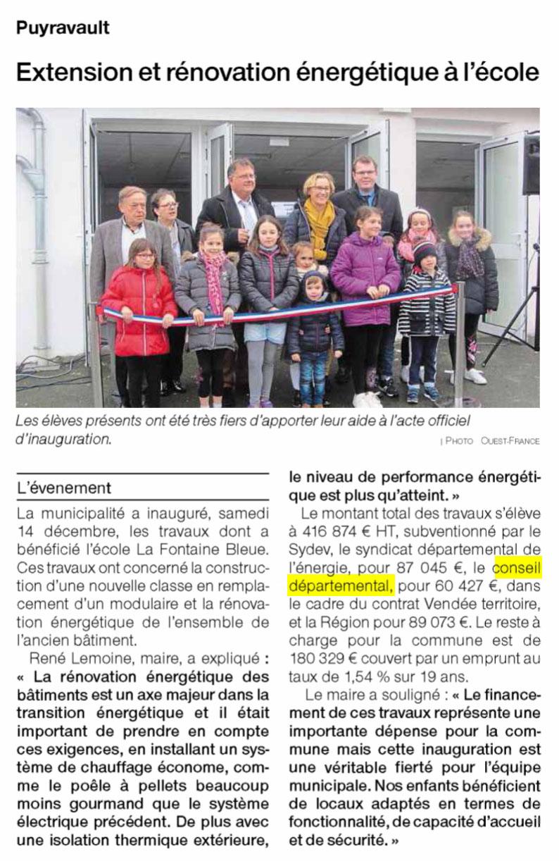 Extension et rénovation énergétique à l'école