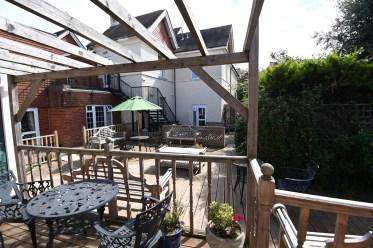 Nova House garden with decking
