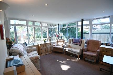 A sunny sitting room in Nova House