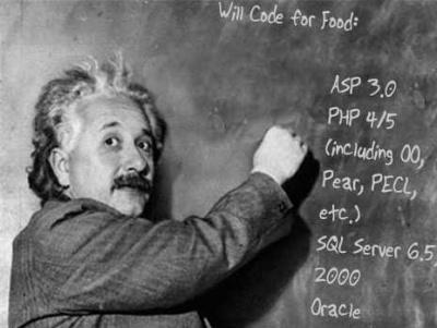 resume Einstein