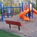 Twisty slide and Monkey Bars at Wilton Center Playground