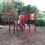 Climbing and monkey bars at Reston North Park