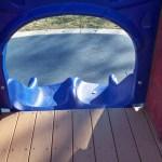 Two short slides at Chessie's Backyard Playground