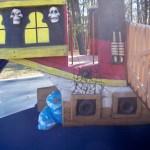 Climbing feature at Chessie's Backyard Playground