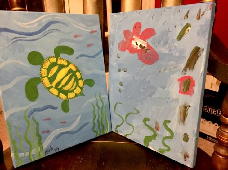 Finished work Family Paint Night Alexandria VA Joy Troupe NOVA