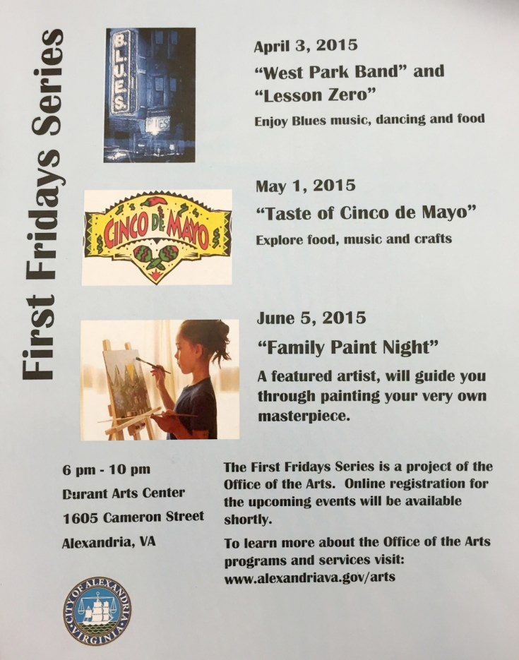 Upcoming First Fridays at Durant Arts Center in Old Town Alexandria VA Joy Troupe NOVA