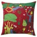 The Pleasure Garden Pillow Red