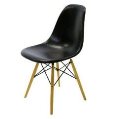 Black Eames Chair Rocking Covers For Christmas Dsw 1950 Vitra Miniature Nova68 Com