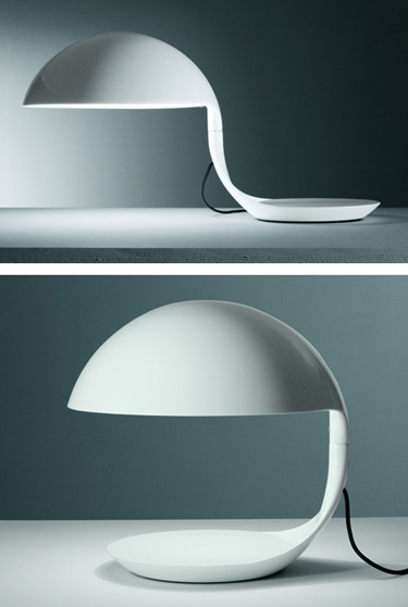 Martinelli Luce Elio Martinelli Cobra Table Lamp in White