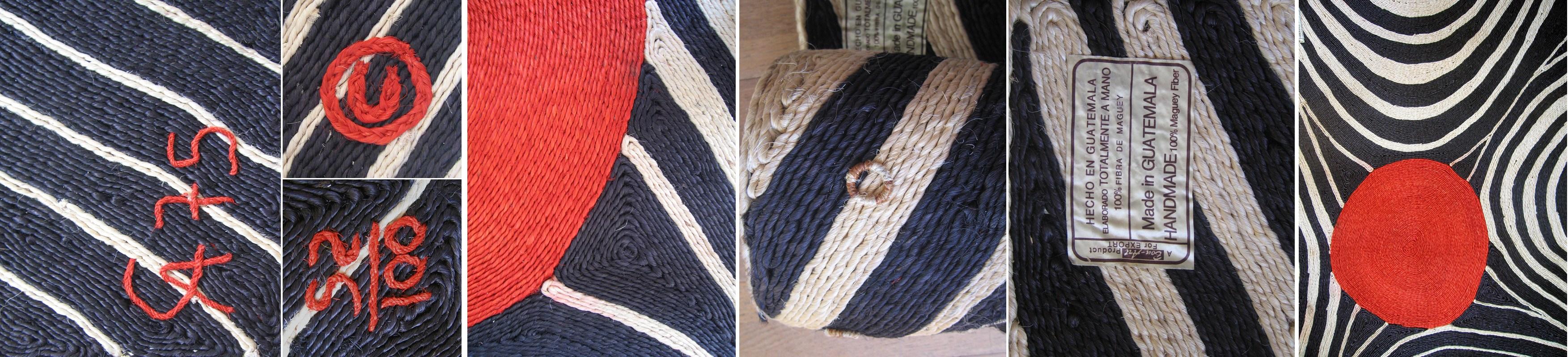 zebra dining chairs revolving chair base alexander calder 'zebra' 56x84 maguey fiber wall art weaving, 1975: nova68.com