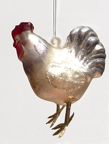 chicken family of 3 ornaments