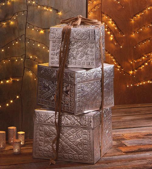 Gift Box Tower Set Christmas Gift Boxes Set of 3 NOVA68com