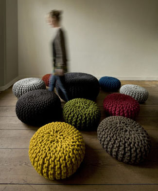 Christien Meindertsma: Flocks Pouf Stool Large