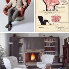 Most Comfortable Living Room Chairs Open Air Chair Repair Denver Joe Colombo Elda | Modern Design By Moderndesign.org