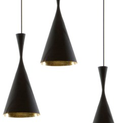 Kitchen Island Pendant Lights Designer Faucets Beat Light Black/copper From Tom Dixon Tall ...