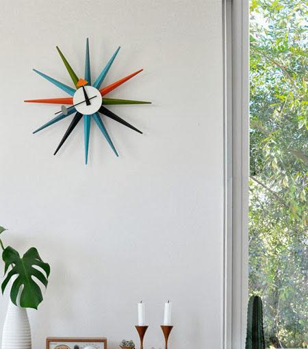 Sunburst Clock Multi Colour  NOVA68com