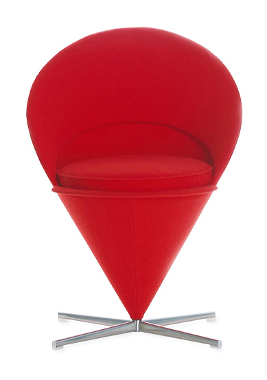 red kitchen rugs and mats island light verner panton cone chair - vitra furniture: nova68.com