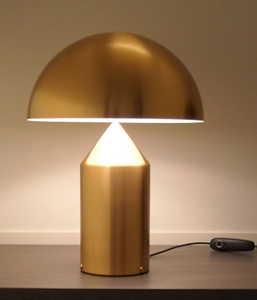 Vico Magistretti Oluce Atollo 233 Gold Table Lamp NOVA68com