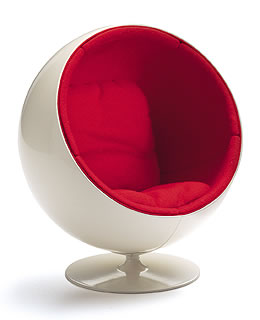 Miniature Aarnio Ball Chair by Vitra Design NOVA68com