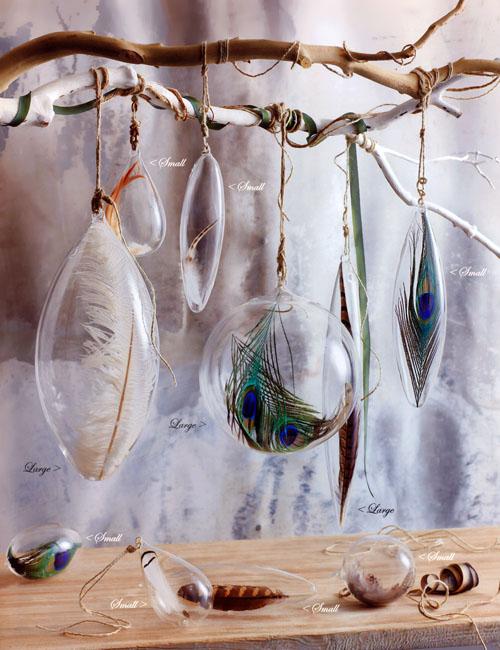 Christmas tree ornaments with feathers NOVA68com
