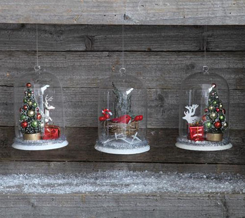 Classic Glass Christmas Dome Ornaments Nova68 Com