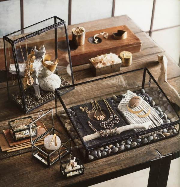Beautiful Clear Glass Countertop Jewelry Display Case