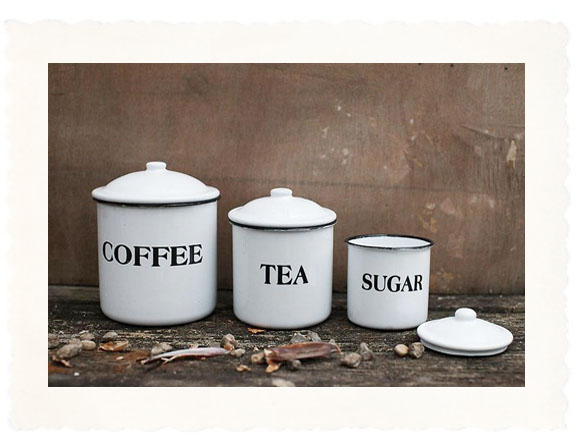 kitchen canister complete country set with black letter decor click to view additional images