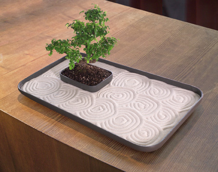 24inch large indoor zen garden kit for tabletop with sand