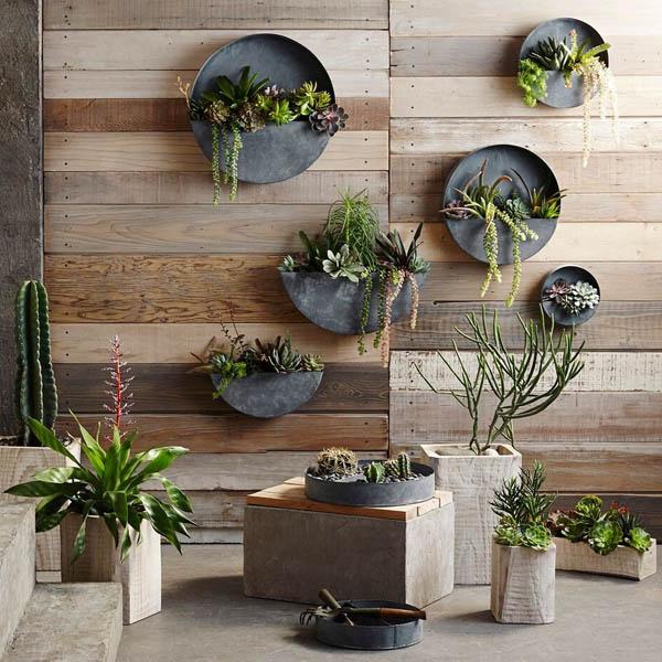 Akari Natural Wood Indoor Planter Pots NOVA68com