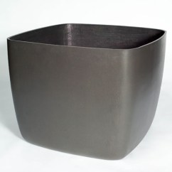 Black Kitchen Tables Remodeling Los Angeles Osaka Large Square Garden Planter/plant Pot With Rounded ...