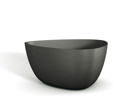 172128inch Black Fibercement Contemporary Box Planter