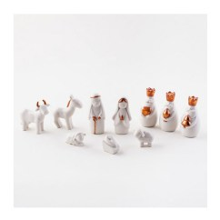 Miniature Kitchen Utensils How To Build Your Own Island White Porcelain Nativity Scene Sets With Box ...